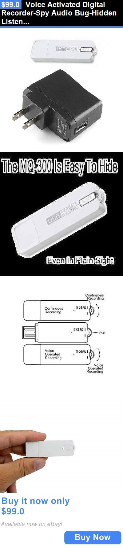 Voice Recorders Dictaphones: Voice Activated Digital Recorder-Spy Audio Bug-Hidden Listening Device Mq-U300 BUY IT NOW ONLY: $99.0