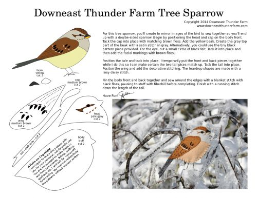 Sprightly Tree Sparrow   Downeast Thunder Farm