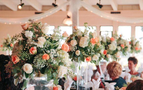 DIY Wedding Decor: Gold Candlestick Centerpieces