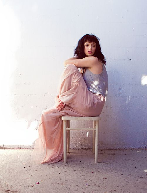 Kristen Ritter in pastels and insanely beautiful light.