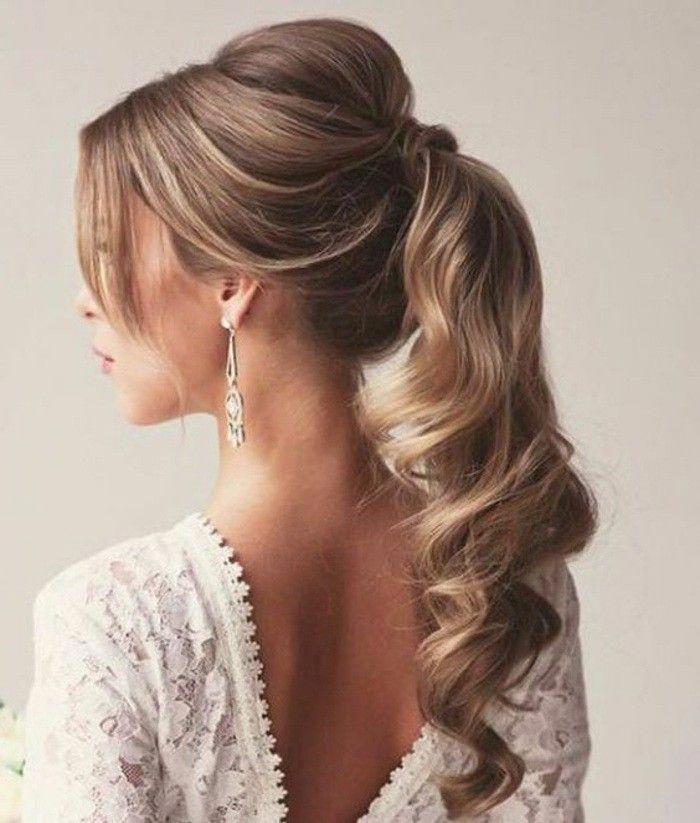 27+ Mariage coiffure queue de cheval des idees