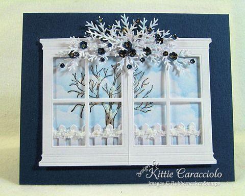 Kittie Kraft - Splitcoaststampers - Sparkly Winter Window