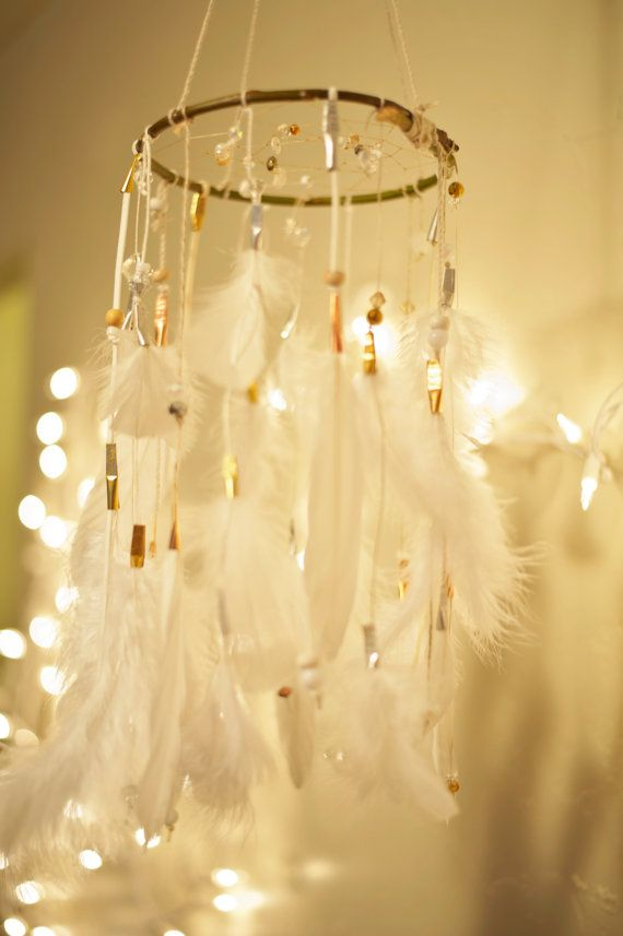 Wedding Dreamcatcher/Dreamcatcher Mobile by TheBigSkyPlace on Etsy, $105.00
