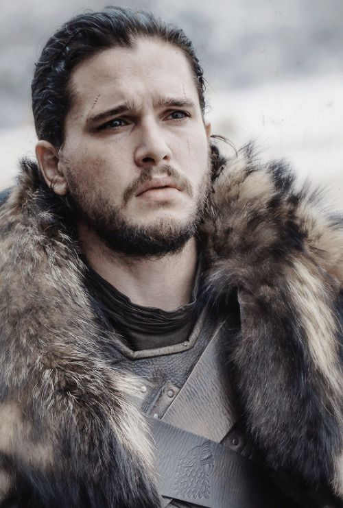 The King in the North   The baby that Lyanna Stark held in her arms as she lay dying in the Tower of Joy? That was Jon Snow. He's not Ned Stark's bastard. He's Ned Stark's nephew. The quick cut between that baby's face and Kit Harington's pout should put all doubt at rest.