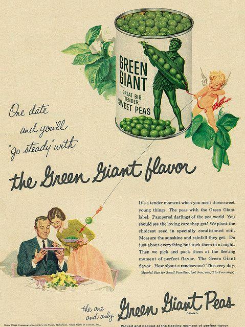 Go steady with Green Giant Peas (1957)