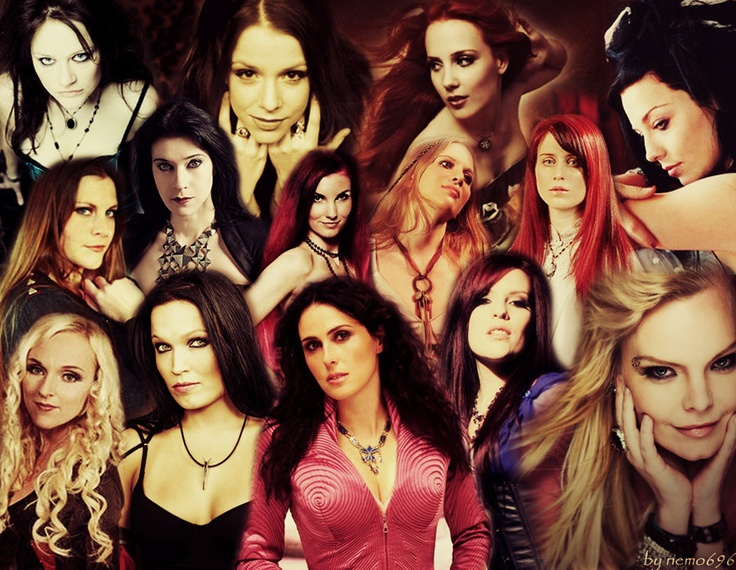 Vibeke Stene,(ex-Tristania)@Lisa Nils Middelhauve,(ex-Xandria)Simone Simons,(Epica)Amy Lee,(Evanescence)Floor Jansen,(After Forever,ReVamp)Anne Nurmi,(Lacrimosa)Katra Solopuro (Katra),Carmen Elise Espenæs,(Midnattsol )Sabine Dunser,(Elis)Liv Kristine(ex-Thearte of tragedy,Leaves' Eyes) ,Tarja Turunen(ex-Nightwish), Sharon den Adel,(Within Temptation)Ailyn(Sirenia),Anette Olzon (Nightwish)