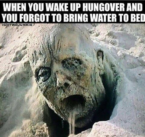 Minus the hangover lol, I just need the water