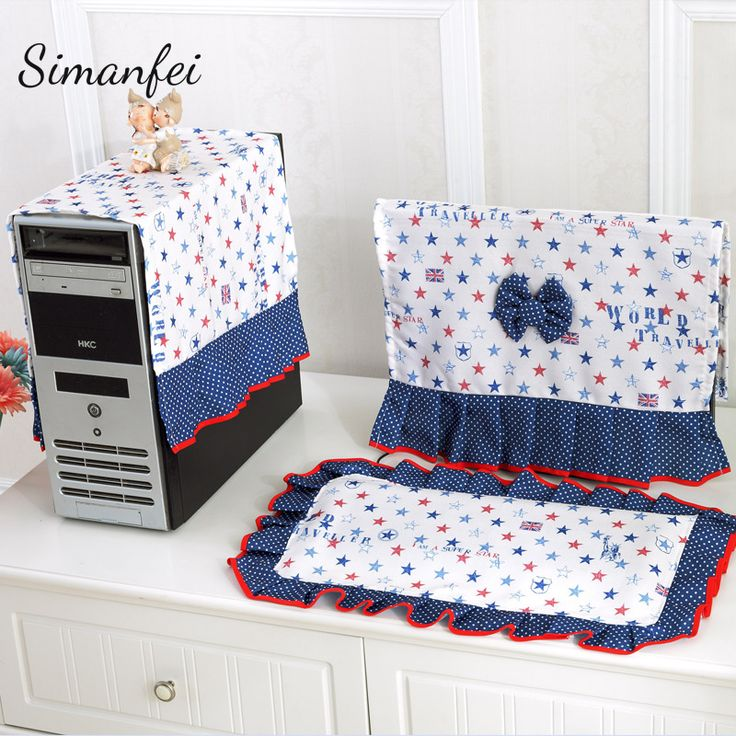 Simanfei Desktop Computer Cover Sets 2017 New Lace Icd Monitor Dust Proof  Desk Decoration Table Cover