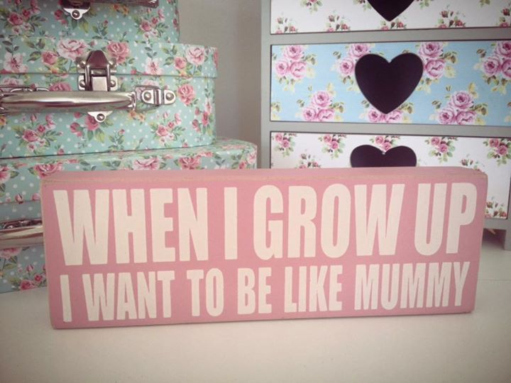 'I want to be like mummy' Quote Block
