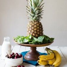 Green Smoothie Recipes - Simple Green Smoothies. Pineapple upside down