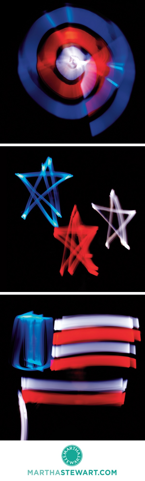Create these patriotic photographs using your camera and glow-sticks.: July Photographers, Photographers Create, Wedding Ideas, July Wedding, Patriots Photographers, Photo Fun, Fun Photographers, Clever Ideas Diy
