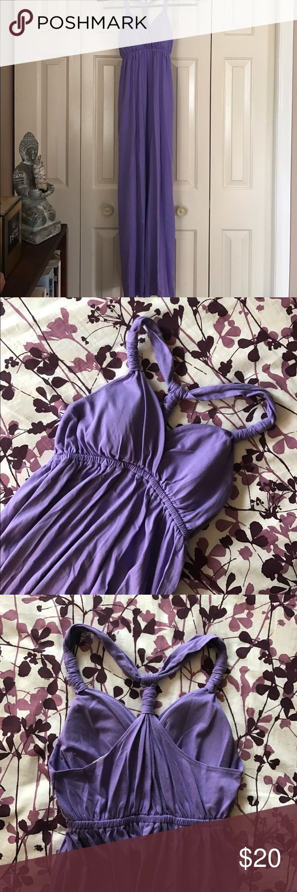 Maxi sundress Pink rose purple maxi sundress with built in bra. Machine wash. Never worn Pink Rose Dresses Maxi