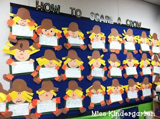 Miss Kindergarten: scarecrow craft