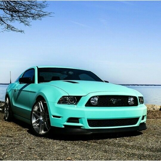 Tiffany blue mustang! ! ! In love!