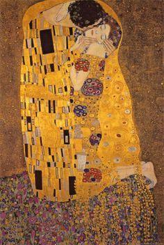 O Beijo, c.1907 - Gustav Klimt foi um desenhista e pintor austríaco, cujas obras de arte se enquadram no contexto de dois movimentos artísticos modernistas: simbolismo e art nouveau
