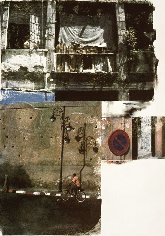 Robert Rauschenberg - print, collage of cityscape images