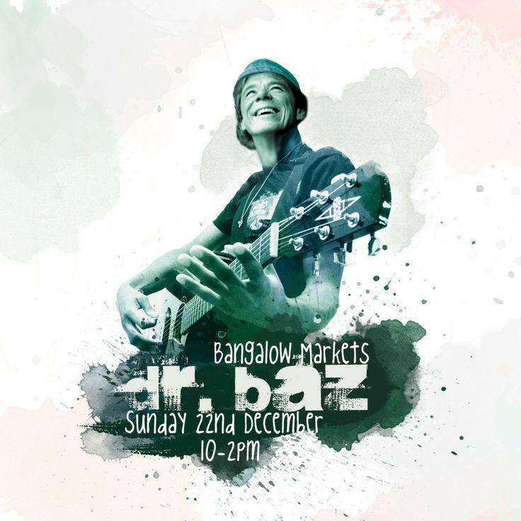 Dr. Baz guitar and vocals Bangalow Markets