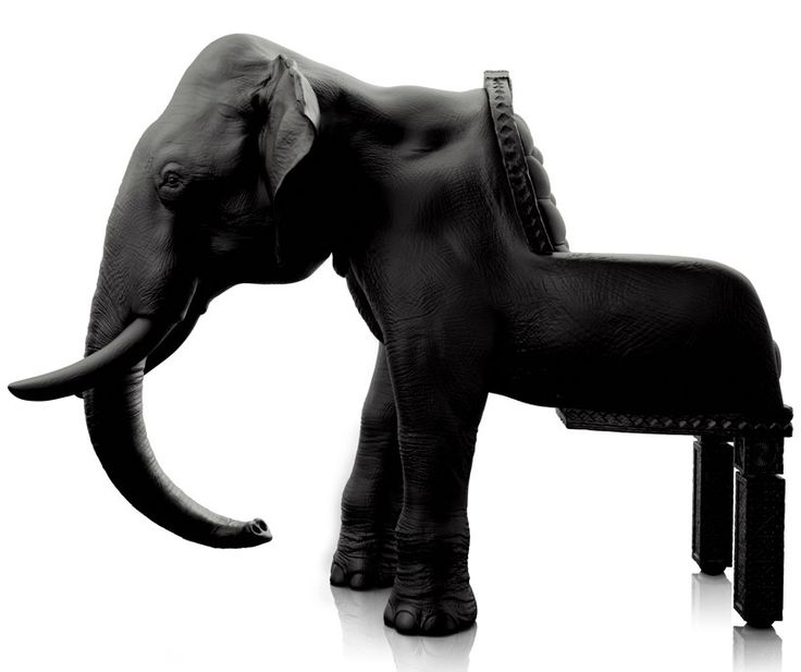 spanish designer maximo riera has continued this 'animal chair collection' with 'the elephant chair' as an homage to the largest animal   walking the earth, known for memory, intelligence and wisdom