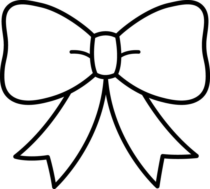 """Bow Clipart Black And White 