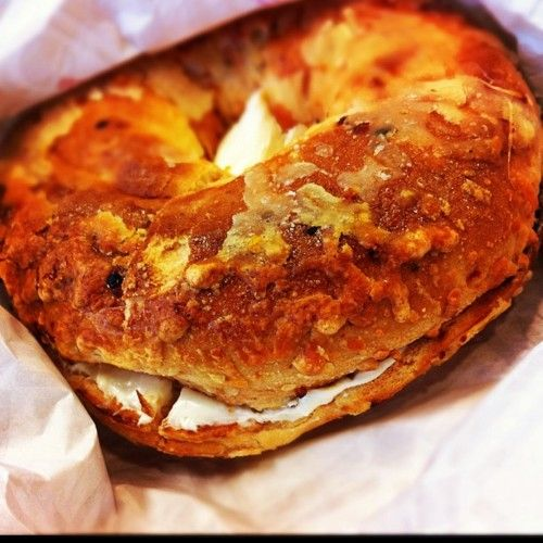 Tim Horton's Cheese and Sundried Tomato Bagel
