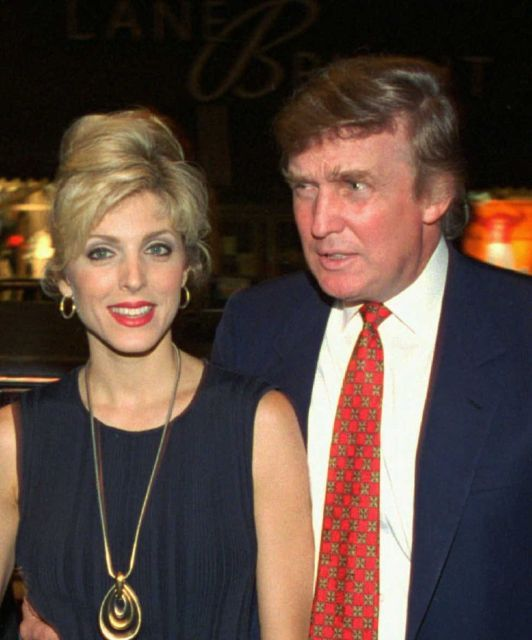 Donald Trump and Marla Maples, his mistress-turned-wife, in August 1994. The New York Post, quoting unidentified sources, was reporting on May 2, 1997, that Trump and Maples were on the verge of breaking up. The paper was right.