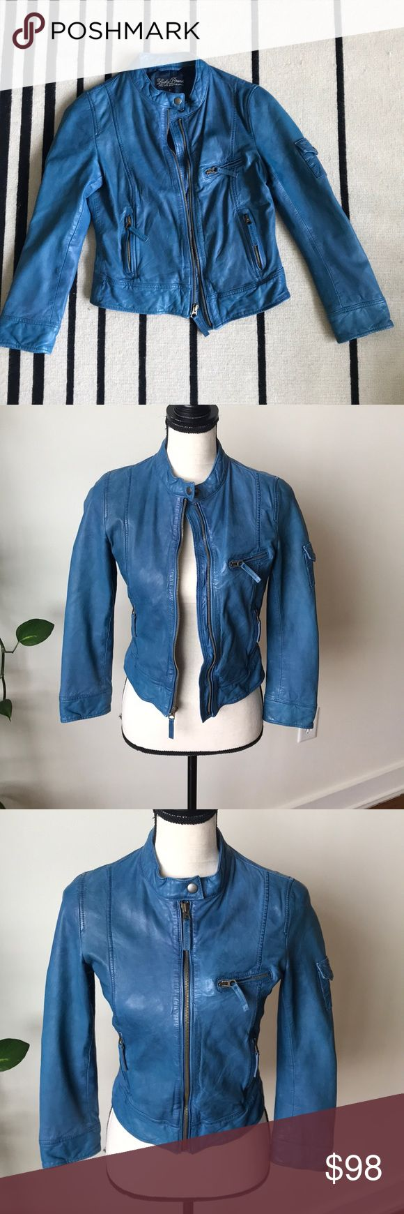 Lucky Brand Moto Leather jacket Great condition buttery