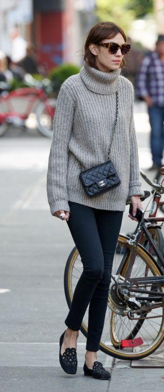 #alexachung #denim #fashion #knit #vogue