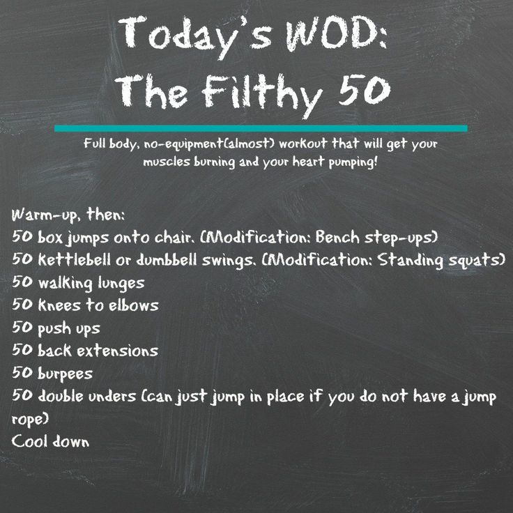 Crossfit Workouts: Full Body, Almost No Equipment, At Home Crossfit Workout