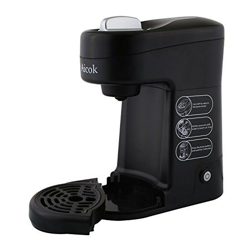 Special Offers - Aicok K-cup CoffeeMaker Travel Size Single Serve Coffee Brewer Dispensing Coffee Machine - In stock & Free Shipping. You can save more money! Check It (July 11 2016 at 07:53PM) >> http://coffeemachineusa.net/aicok-k-cup-coffeemaker-travel-size-single-serve-coffee-brewer-dispensing-coffee-machine/