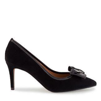Pantofi dama negri 4124 piele intoarsa