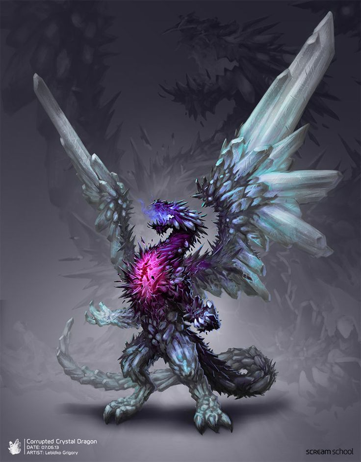 17 best images about crystal creature concept art on for Paintings of crystals
