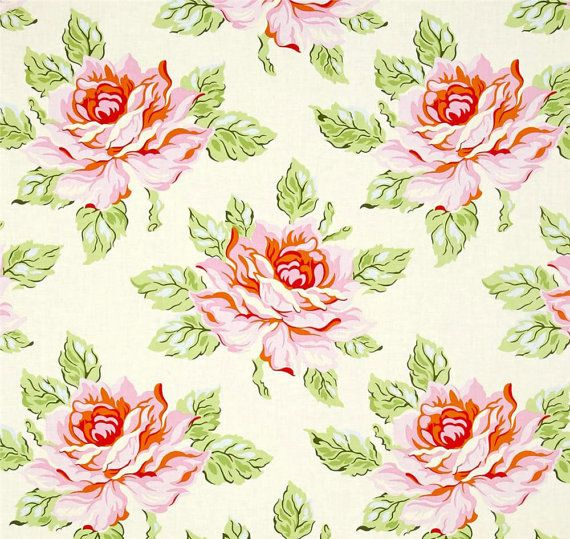Rose Shower Curtain, Cottage Chic Decor, Shabby Chic Shower Curtain, Floral Bathroom Decor, Pink Green Shower Curtain
