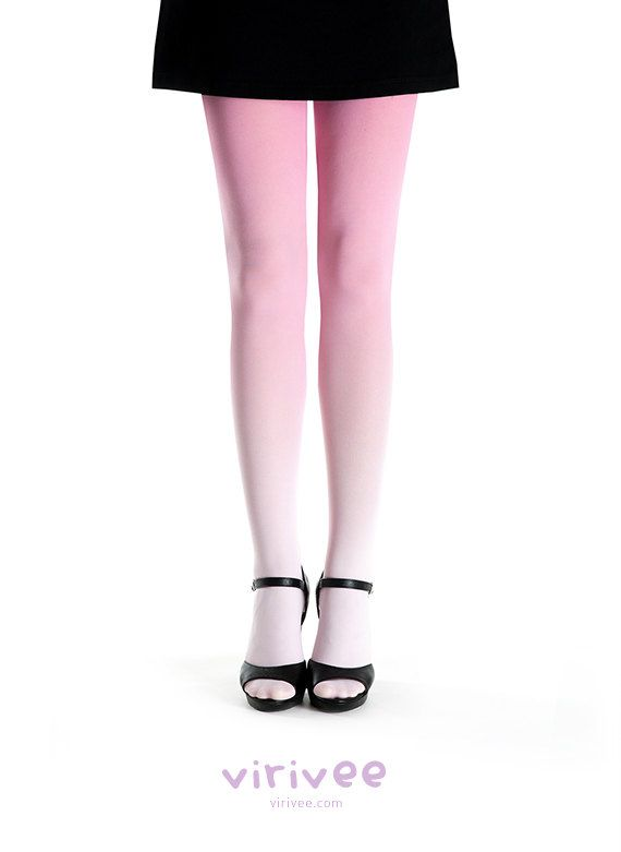 Ombre tights pale pink to pink by virivee on Etsy, $35.00