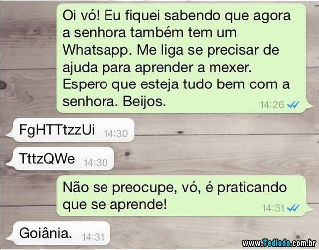 As conversas mais engraçadas de todos os tempo do whatsapp, só aquele conversa entre amigos, irmão, grupo ou mesmo com um estranho.