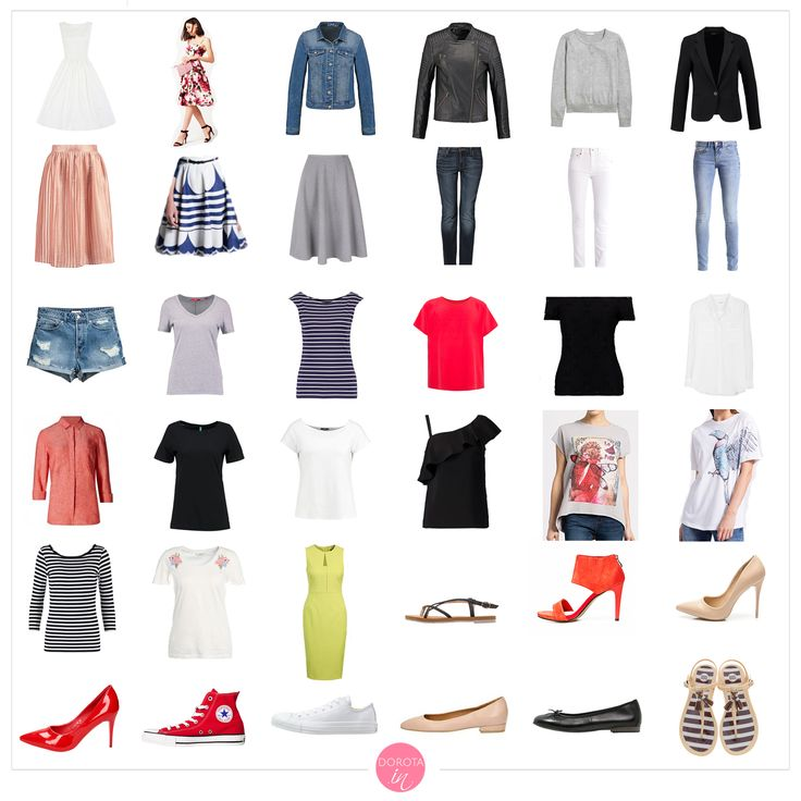 Garderoba kapsułowa na lato - letnia szafa minimalna. Mój minimalny zestaw ubrań na letni sezon. #moda #szafa #fashion #style #styl