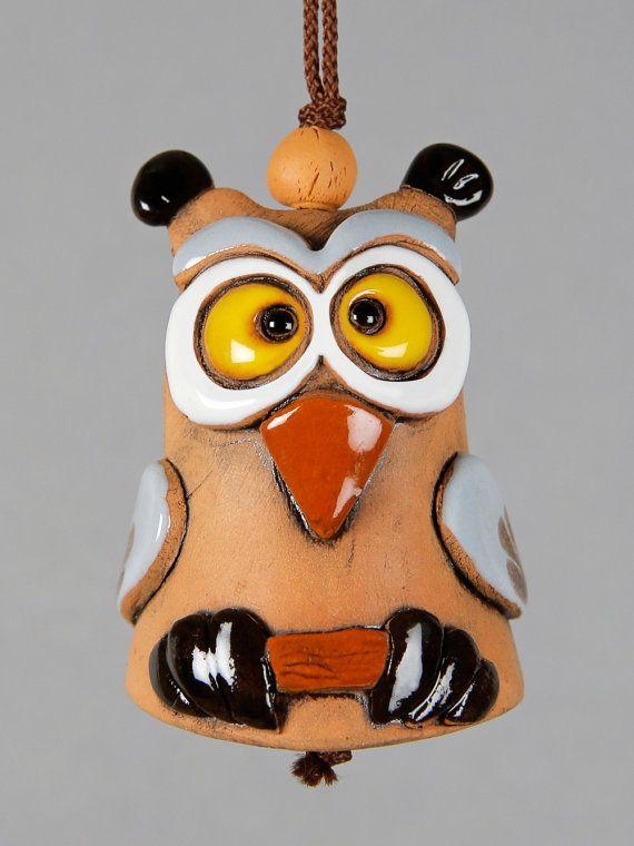 Ceramic Bell, Pig, Frog, Hedgehog, Owl, School Accessory