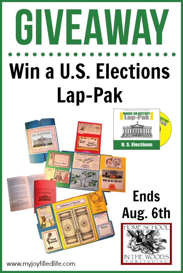 Win a U.S. Elections Lap-Pak from Homeschool in the Woods; ends 8/6/2016