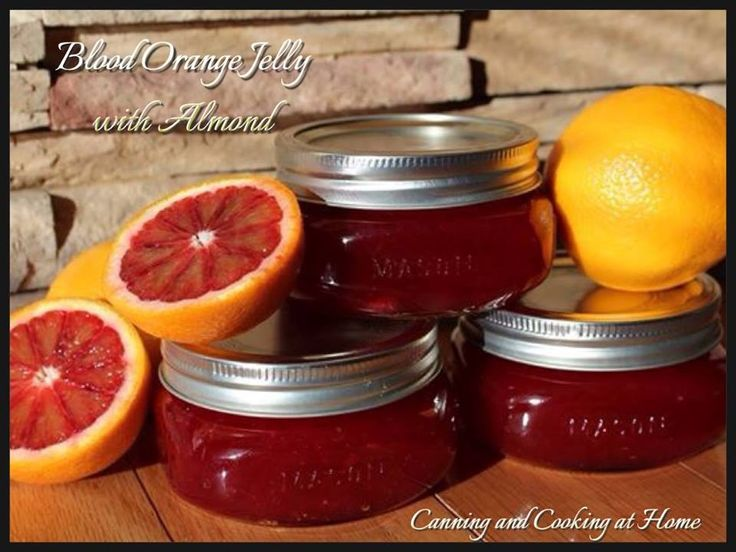 Sweet Blood Orange Jelly with Almond by C&C@H