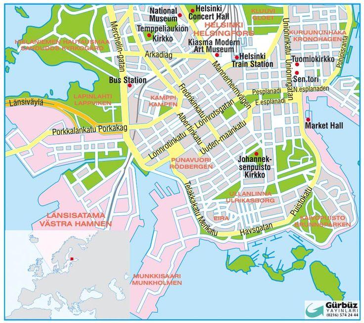 Helsinki map, Finland