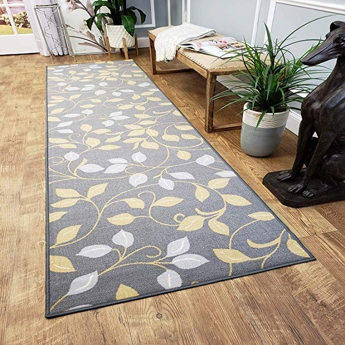 Runner Rug 2x5 Gray Floral Kitchen Rugs And Mats Rubber Backed Non Skid Rug Living Room Bathroom Nurs Kitchen Rugs And Mats Rugs In Living Room Rugs And Mats Washable throw rugs without rubber backing