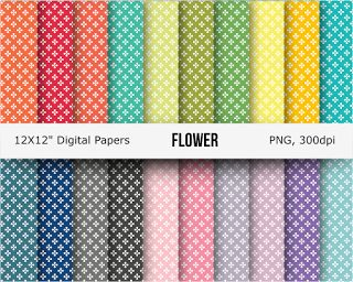 20 free flower digital papers   Here is a pack digital papers featuring flower design. There are 2...
