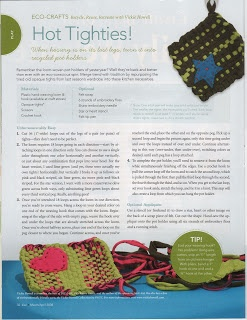 Recycled Tights Pot Holders for Kiwi Magazine, Spring '08
