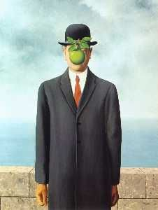 Painting Top 16/1000 - 'The Son of Man' of Rene Magritte