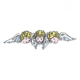 Stamp It Stamp Christmas Cherubs Woodmount Stamp