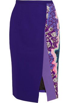 Peter Pilotto Ria printed stretch-cady pencil skirt | NET-A-PORTER
