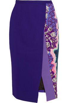 Peter Pilotto Ria printed stretch-cady pencil skirt | NET-A-PORTER