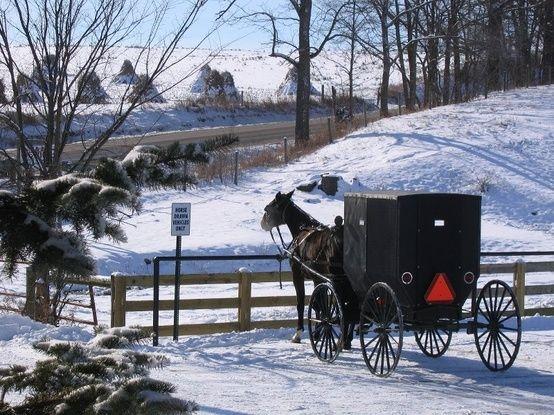 An #Amish winter wonderland... amishgazebos.com