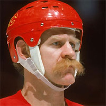 This moustache belongs to Lanny McDonald formerly of the Calgary Flames ) #moustache #NHL #Flames