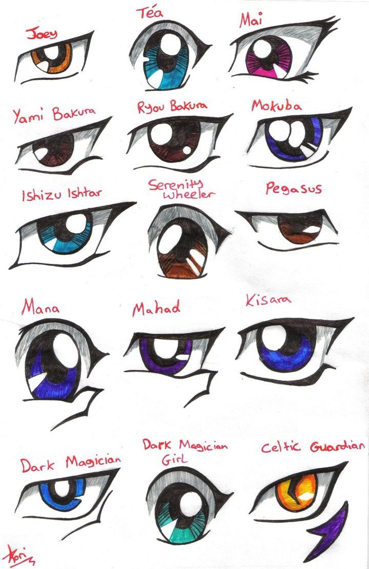 how to draw yugioh characters