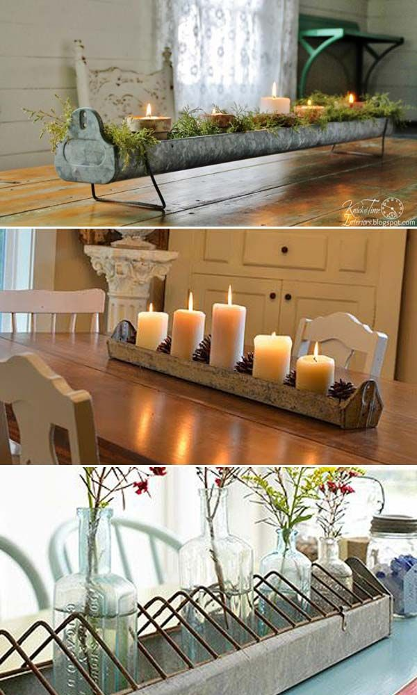 Easily turn it into candle holder or centerpiece of a holiday table. - Top 20 Crazy Ideas to Repurpose Chicken Feeders